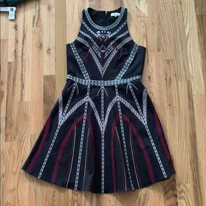 Black, Red, and Blue flare dress